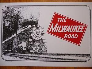 Details about �Milwaukee Road locomotive silkscreen