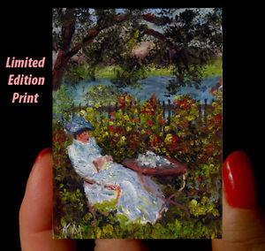 Details about �Miniature Dollhouse CANVAS PRINT Monets