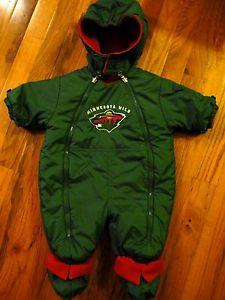 Details about NHL Minnesota Wild Hockey Infant Sz 3-6 Months Reversible Snowsuit by MightyMac