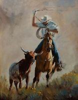 Details About Origninal Oil Painting Western Ranch