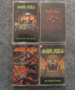 Details about �Overkill 4 Cassette Tape Lot