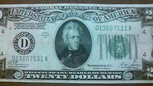 Details about �RARE~1928B $20 DOLLAR BILL