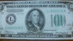Details about RARE 1934 $100 Dollar Bill, SAN FRAN, Old Paper Money US Currency Wow NICE