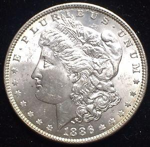 Details About Rare Choice Bu 1886 Vam 1e2 Morgan Silver