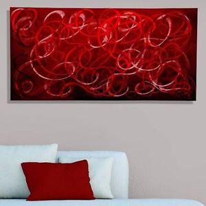 Details About Red Modern Metal Wall Art Contemporary