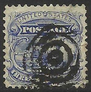 Details about �Scott 114 US Stamp 1869 3c Locomotive