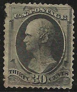 Details about �Scott 154 US Stamp 1873 30c Hamilton