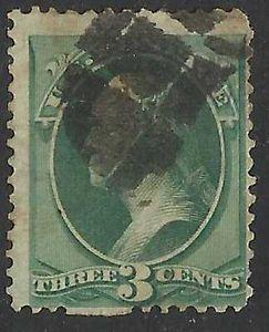 Details about �Scott 158 US Stamp 1873 3c Washington
