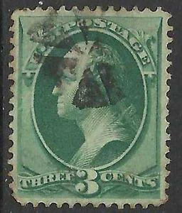 Details about �Scott 207 US Stamp 1881 3c Washington