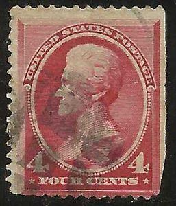 Details about �Scott 215 US Stamp 1888 4c Jackson Used