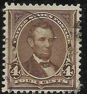 Details about �Scott 269 US Stamp 1895 4c Lincoln Used