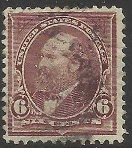 Details about �Scott 271 US Stamp 1895 6c Garfield Used