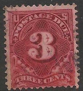 Details about �Scott J63? US Stamp 1917 3c Postage Due