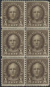 Details about �Scotts #653 1/2c NATHAN HALE Stamp Block