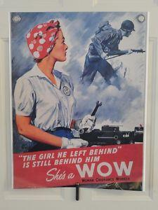Details about �She's A WOW Woman Ordnance Worker Poster