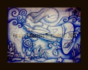 Details about �SURFER GIRL Original Drawing Art