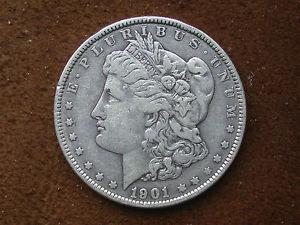 Details about �VERY RARE 1901 MORGAN SILVER DOLLAR VF+