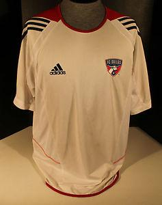 Details about VINTAGE FC DALLAS BURN ADIDAS CLIMA COOL SOCCER FOOTBALL JERSEY PRE GAME MLS XL