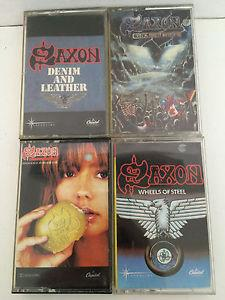 Details about Vintage SAXON Cassette Lot 4 Innocence Denim Leather Wheels Rock Nation 1980s