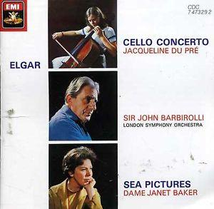 Details about Elgar Cello Concerto Sea Pictures - Du Pre, Barbirolli UK Black disc, 1986