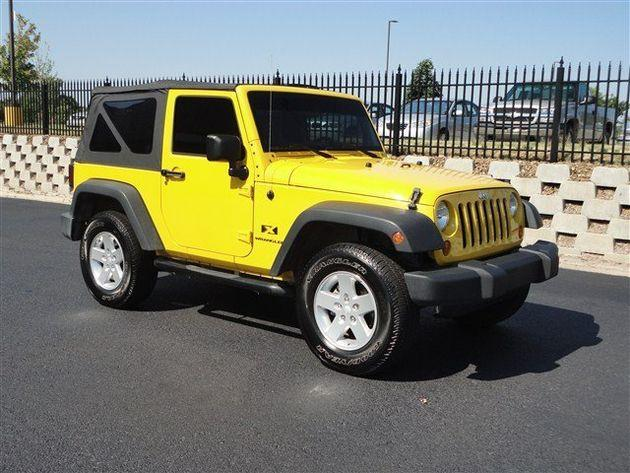 detonator yellow 2008 jeep wrangler x dealer bentonville for sale in jerusalem arkansas. Black Bedroom Furniture Sets. Home Design Ideas