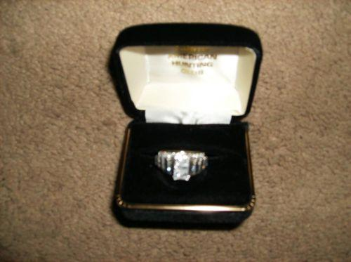 Diamond Engagement Ring 3 ct.Princess cut 14K Two Tone