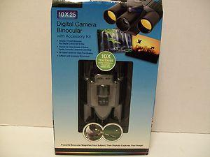Digital Camera Binocular With Accessory Kit 10x25 From The Sharper