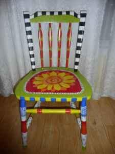 dining Chair - Hand Painted Whimsical - $175 & dining Chair - Hand Painted Whimsical - (Greensboro) for Sale in ...