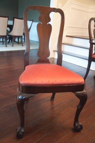 Dining Chairs Kindel Queen Anne Ball And Claw Mahogany