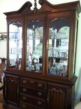 dining room set honduras mahogany oval table chairs china cabinet