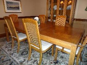 Dining Room Set Table 6 Chairs China Closet Buffet