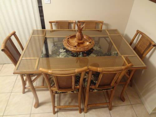 Dining Room Set Washed Oak China Cabinet Table W 6 Chairs For Sale I