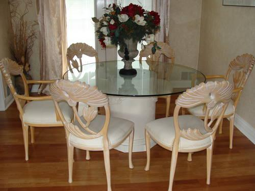 Dining room set with chairs flower arrangement for