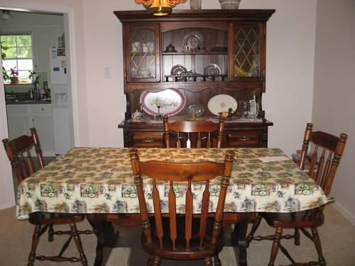 dining room suite knotty pine veneer w early american stain for sale
