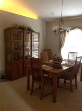 dining room suite solid golden oak for sale in lakeland