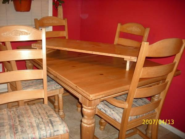 dining room table 6 chairs for sale in whiting new