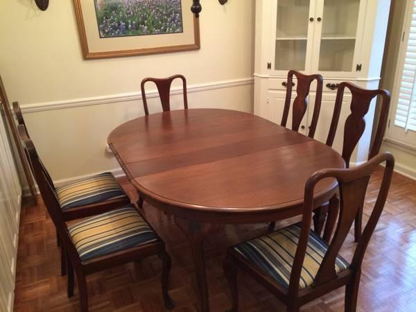 Dining Room Table And Chairs, Antique