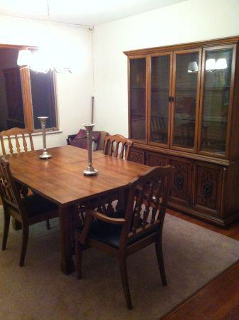 DINING ROOM TABLE, CHAIRS, CHINACLOSET - $200