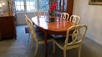 Dining room table set, hutch, sideboard- can sell