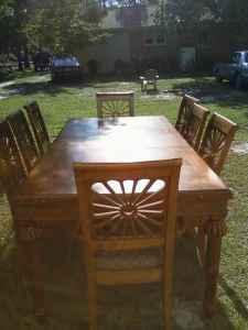Dining Room Table w/China Cabinet - $1200 (Camden,SC)