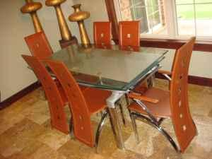 Dining Set Like New 7 Pieces Very Contemporary