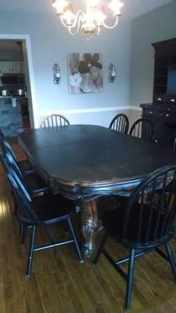 Dining Table and 8 Chairs - $650