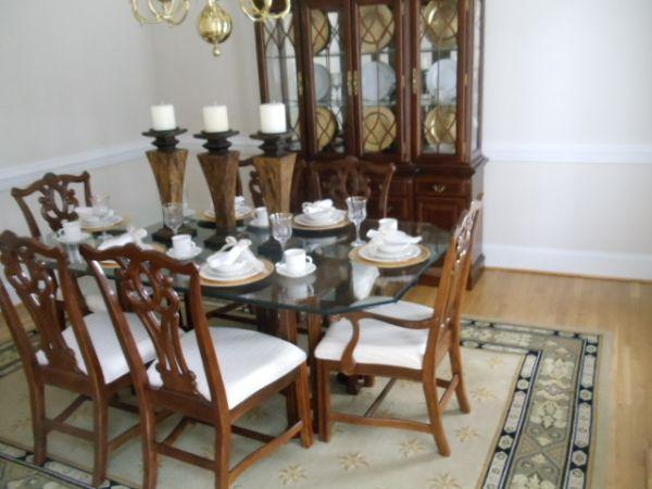 Gt Gt Dining Table Amp China Cabinet Gt Gt Heflin Al For Sale