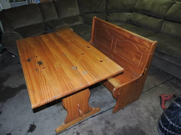 dining table with bench for sale in allegan michigan classified
