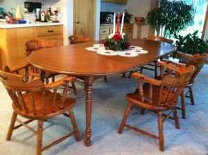 Dining Table Tell City Dining Table 6 Chairs