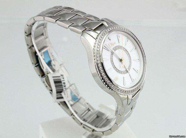 Dior VII Montaigne Mother of Pearl Diamond Dial and