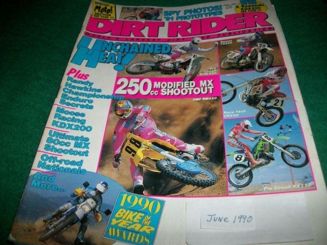 Dirt Rider,June 1990, 250ccKTM,YZ250,CR250,KX250