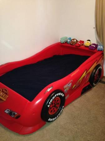 Disney Cars Lightning Mcqueen Twin Size Bed For Sale In