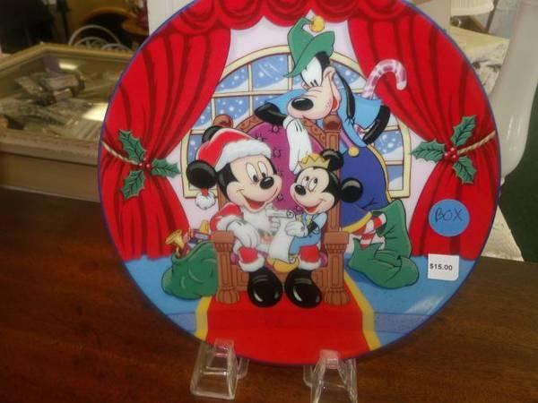 Disney Christmas Plates - $15
