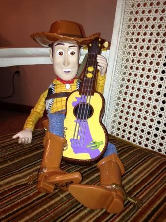 Disney Pixar Toy Story Woody Strumming Amp Singing Doll W